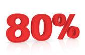Discount 80% — Stock Photo