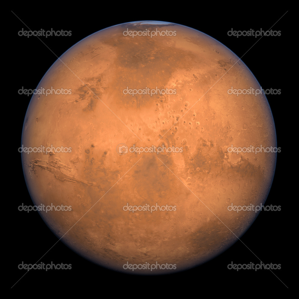 Planet Mars - A high res Full Shot rendering. — Stock Photo #4370154