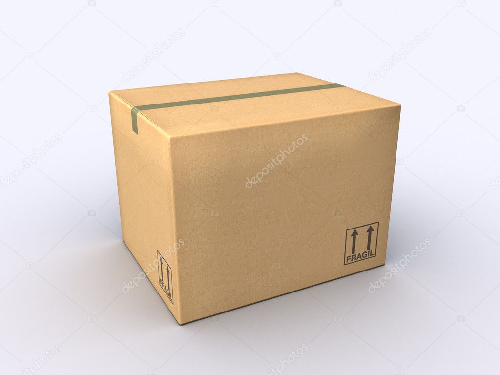 A Moving Box made of cardboard paper — Stock Photo #4370612