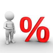 большой символ процента - бобби серии — Стоковое фото