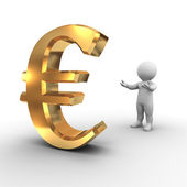 Apresentando o símbolo do euro - série de bobby — Foto Stock