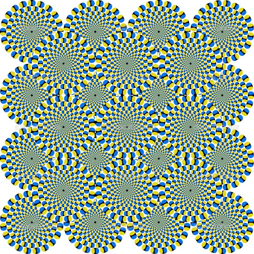 That is a fascinating optical illusion - the concentrical circles are moving somehow. — Stock Photo #5370112