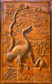 Bas – Relief of sarus crane — Stock Photo