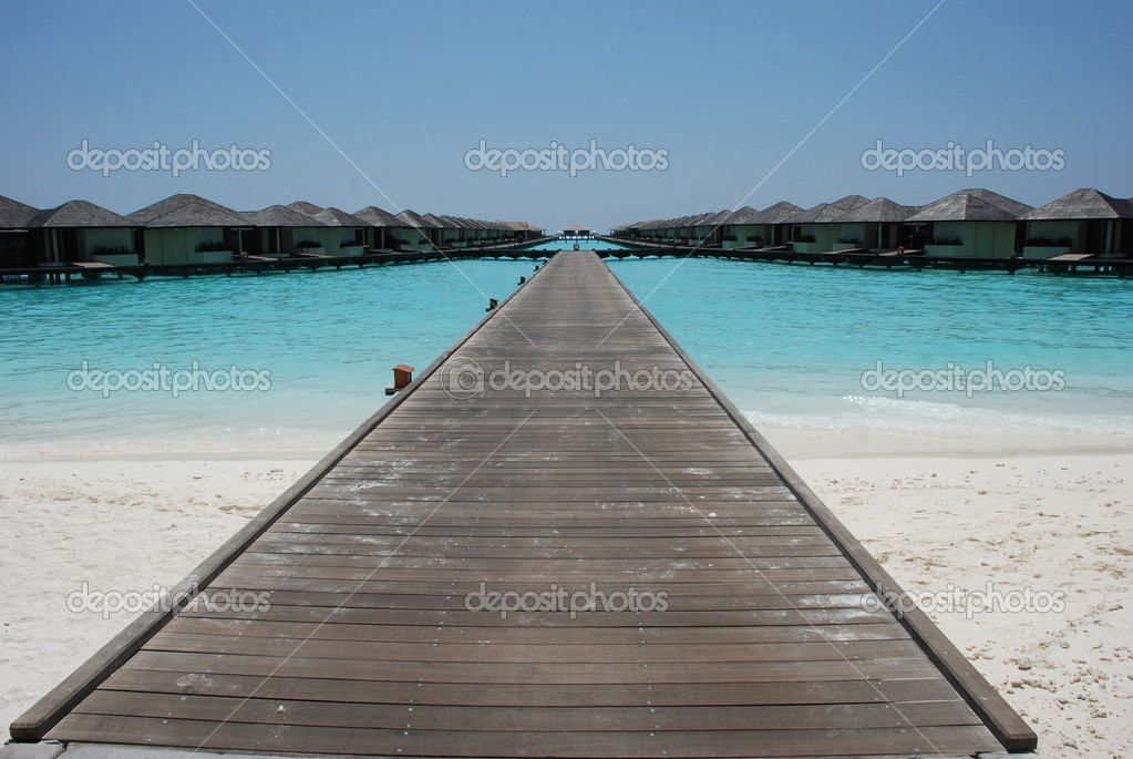 Overwater photographed in maldives — Stock Photo #4246139