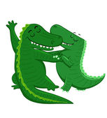 Dancing Crocodiles — Stock Vector