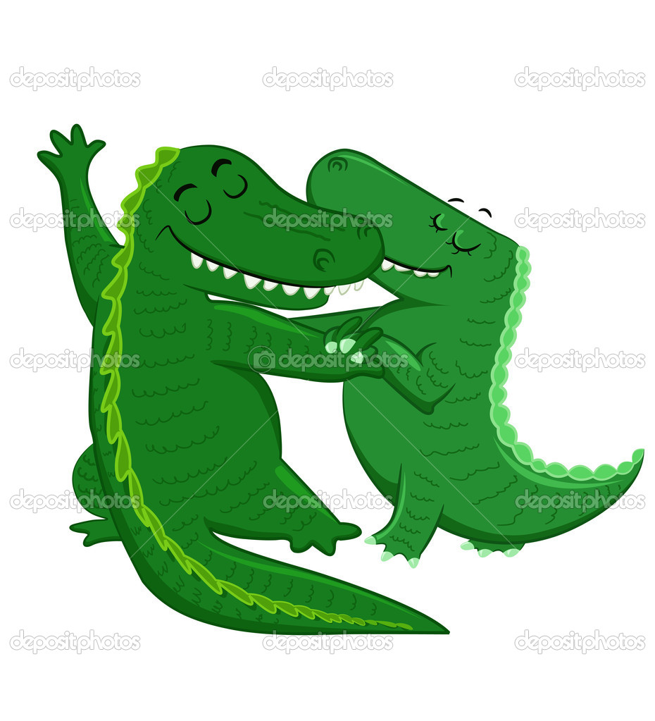 A couple of Dancing Crocodiles  Stock Vector #4285273