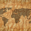 Photo: Old world map
