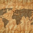 Foto Stock: Old world map