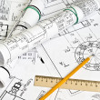 Foto de Stock  : Engineering drawing