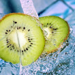 Kiwi in water splash — Stock Photo #5147902