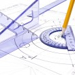Engineering drawing equipment — Stock Photo #5361872