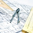 Engineering blueprint and tools — Stock Photo #5361948