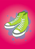 Sneakers, vector illustration — Stock Photo