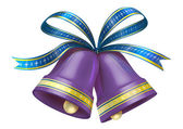 Christmas Bells in purple colour — 图库照片