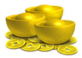 Chinese gold — Stock Photo