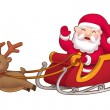 Cute little Santa sleight — Stock Photo