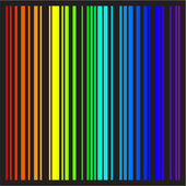 Background - stripes in rainbow colors in vector format — ストックベクタ