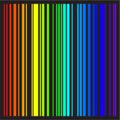 Bakgrund - ränder i regnbågens färger i vektorformat — Stockvektor