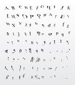 Vector - Grungy bend dreamy hypnotic font — Stock Vector
