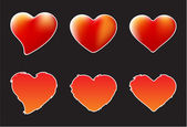 A collection of of hearts - grungy and mesh vector images — Stock Vector