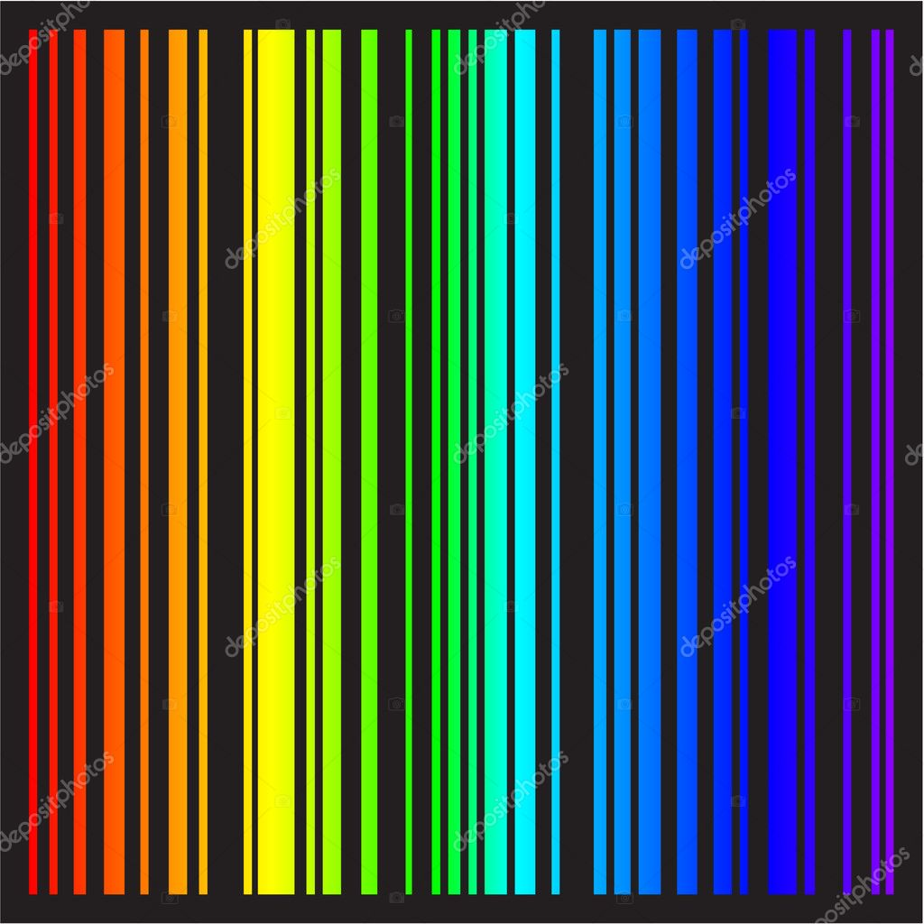 Background - stripes in rainbow colors in vector format — Stock Vector #4259602