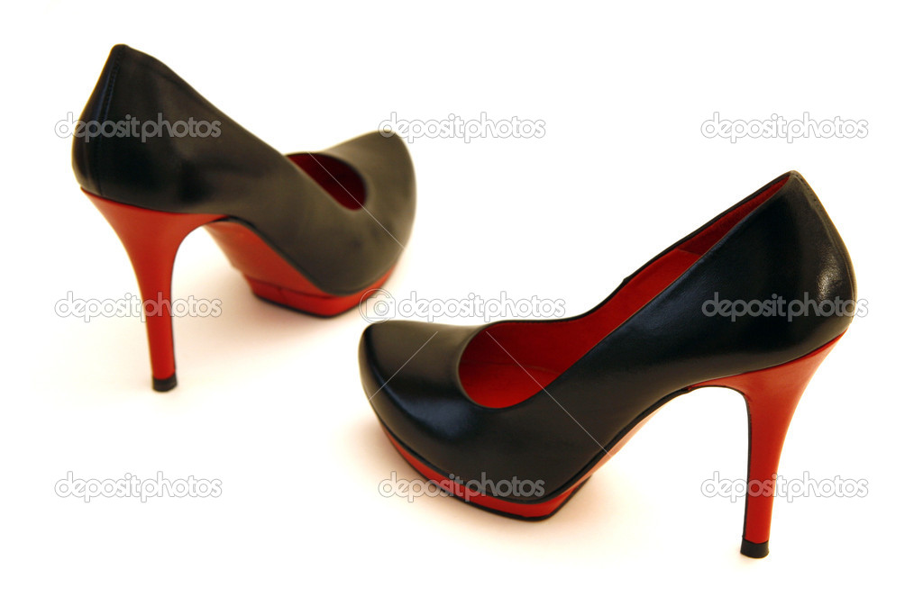 High Heel Shoes in Red and Black — Stock Photo © faustpr #4775797