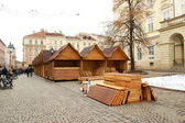 Wooden small houses — Stock Photo