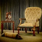 Vintage armchair — Stock Photo