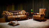 Vintage sofa and armchair — Stock Photo