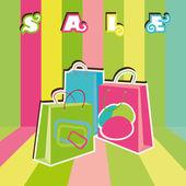 Shopping bags — Vector de stock