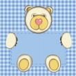 Royalty-Free Stock Vector Image: Bear for baby boy