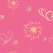 Seamless cute pink wallpaper — Stock Vector