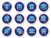 Horoscope zodiac signs — Stock Vector