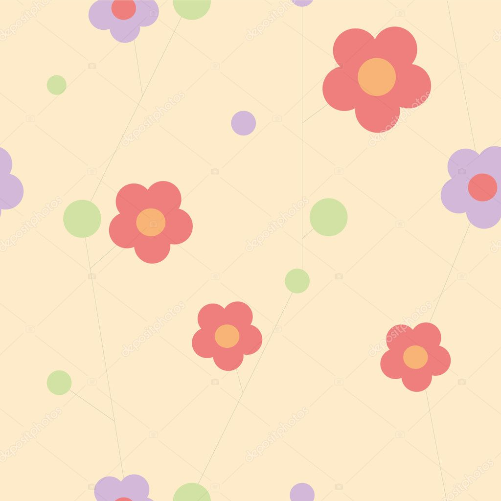 Seamless cute flowers wallpaper. eps10 — Stock Vector #5285011