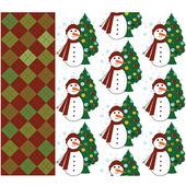 Seamless Christmas patterns — Stock Vector