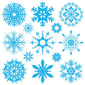 Blue snowflakes — Vector de stock