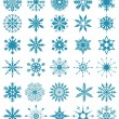 Royalty-Free Stock Vector Image: Set of blue snowflakes