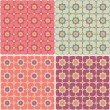 Seamless Patterns with hearts and flowers — Stock Vector
