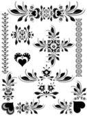 Valentine's day decorative elements — Stock Vector