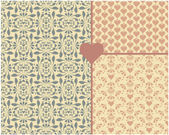Valentine's Day Seamless Patterns — Stock Vector