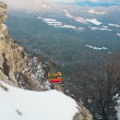 Cable-car at the top of a mountain - 图库照片