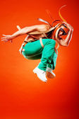 Professional stunt dancer — Stock Photo