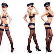 Sexy woman in three poses — Stock Photo #4444967