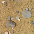 Rocks and Stones over the sand — Stock Photo