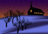 Night Christmas Backround — Stock Vector