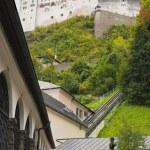 Hohensalzburg and Cemetery, Salzburg, Austria — Stock Photo