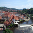 Historical Center of Cesky Krumlov, Czech Republic - Stock Photo