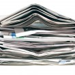 Pile of old newspapers — Stockfoto