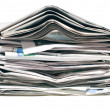 Pile of old newspapers — Stock Photo