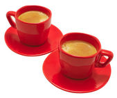 Red Coffee Mugs — 图库照片
